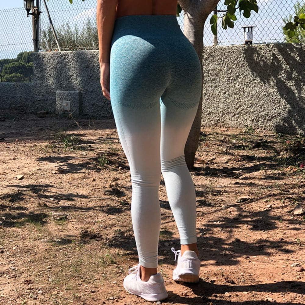 GREFER Women Long Pants Slim Workout Tie Dye Print Leggings Fitness Sport Gym Yoga Athletic