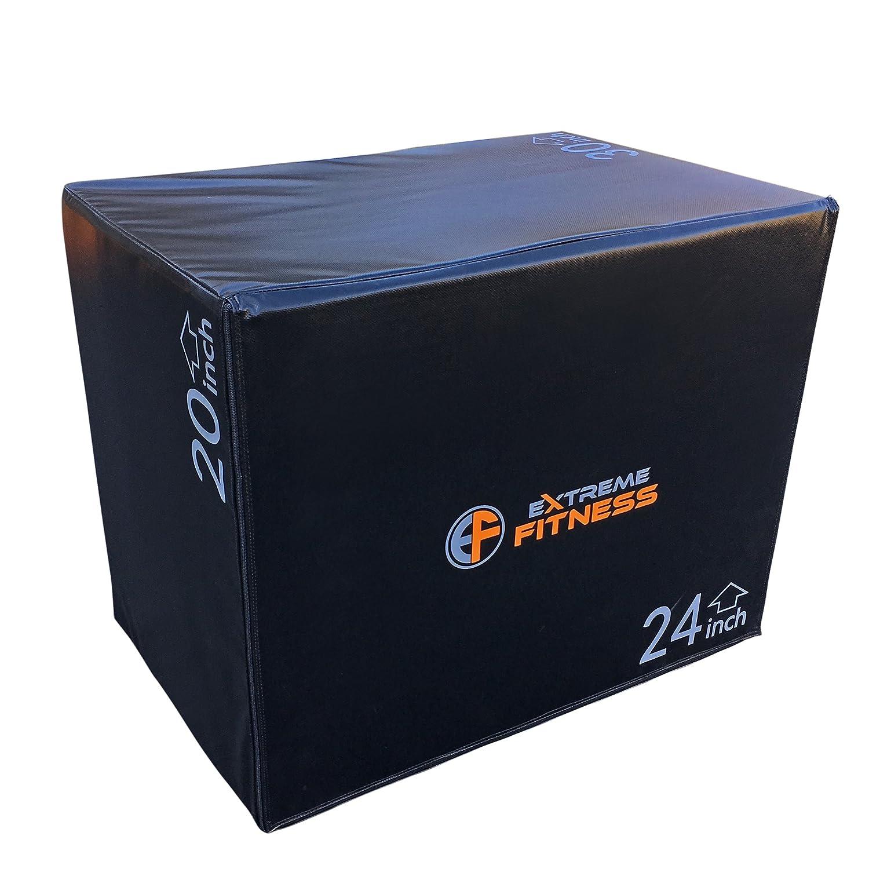 Extreme Fitness 3 in 1 weicher Schaumstoff PLYOMETRIC Plyo Box Jumping Übung 50,8 cm 61 cm 76,2 cm Leichte oder schwere Version