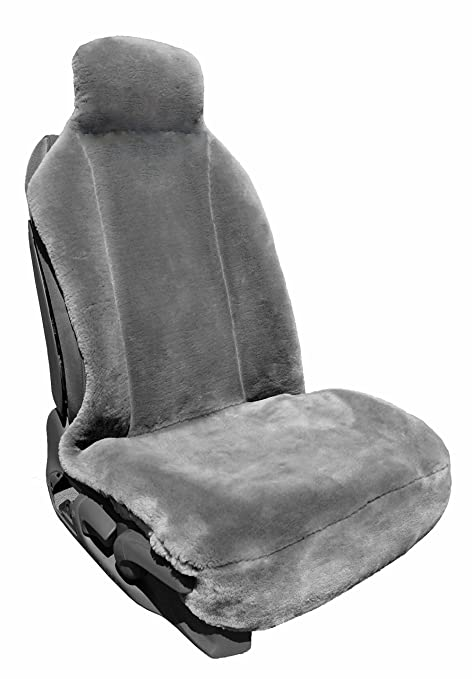 Fabulous Faux Sheepskin Car Seat Cover Luxury Fleece Sideless Universal Seat Cover Gray 1 Single Cjindustries Chair Design For Home Cjindustriesco
