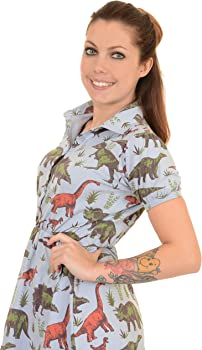 a31aea7ac8 Ladies Run   Fly 80s Adventure Dinosaur T Shirt Skater Dress Size 4 ...