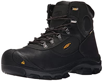 KEEN Utility Men's Leavenworth Internal Met 6 inch Work Boot, Black, ...