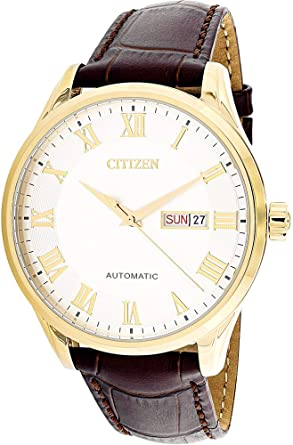 64c7b5b1e14 Amazon.com  Citizen Men s NH8363-14A Gold Leather Japanese Automatic ...