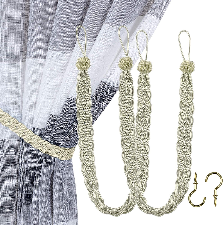 Household Curtain Beaded Necktie Tie Backs Curtain Hanging Hook BL