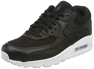 NIKE Air Max 90 Premium, Sneakers Basses Homme, Noir Black-White, 41