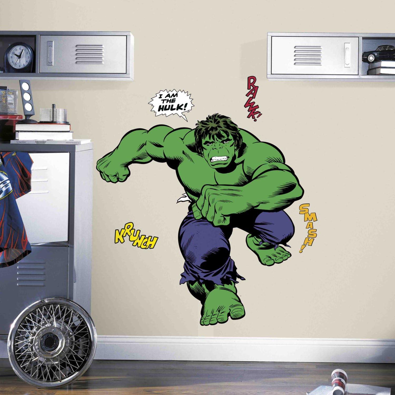 Roommates Classic Hulk Comic Peel And Stick Giant Wall Decals Amazon Com