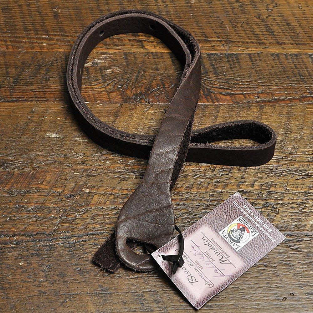 Lakota Leathers Mandolin Strap Non-Braided 48 Inch Mahogany 4334222676