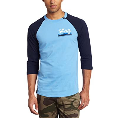 LRG Men's Big-Tall Core Collection 3/4 Sleeve Raglan Baseball T-Shirt: Clothing