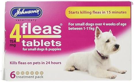 Johnsons 4 fleas pantalla Spot de perro cachorro 3 Mes protección de pulgas