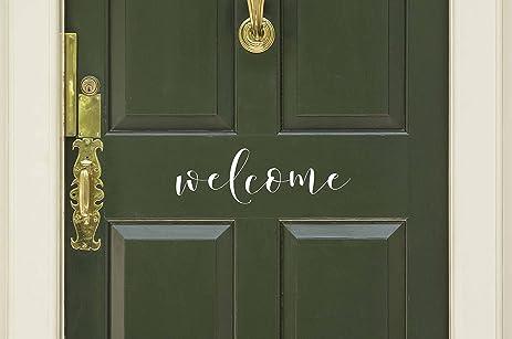 Genial Welcome Vinyl Door Decal   Welcome Front Door Decals, Welcome Home Office  Decor, 15.75