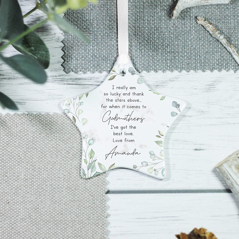 Personalised Luxury Christening  bauble gift