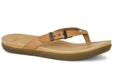 891d228b0e37 Ugg Australia Ladies Suede Flip Flops Tawny 1009849 (UK4.5 US6 ...