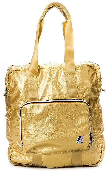 b61b0ef0d2e2 K-way Shopper Borsa Donna Shopping Bag Men Women K1501-Oro  Amazon.it   Scarpe e borse
