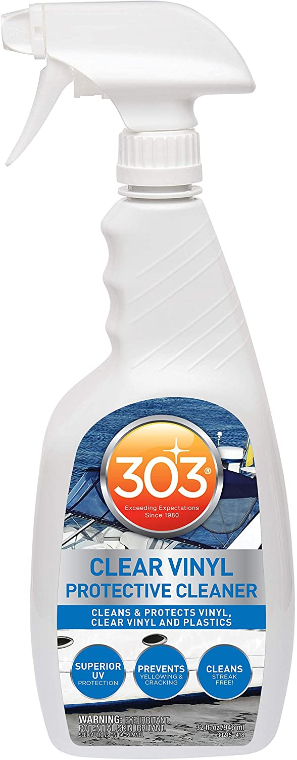 303 (30215) Products Marine Cleaner-Cleans and Protects, Clear Vinyl, and Plastics, 32 fl. oz Fluid_Ounces