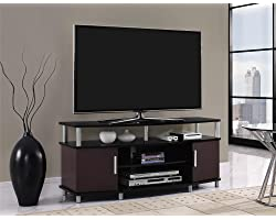 """Ameriwood Home Carson TV Stand for TVs up to 50"""", Cherry/Black"""
