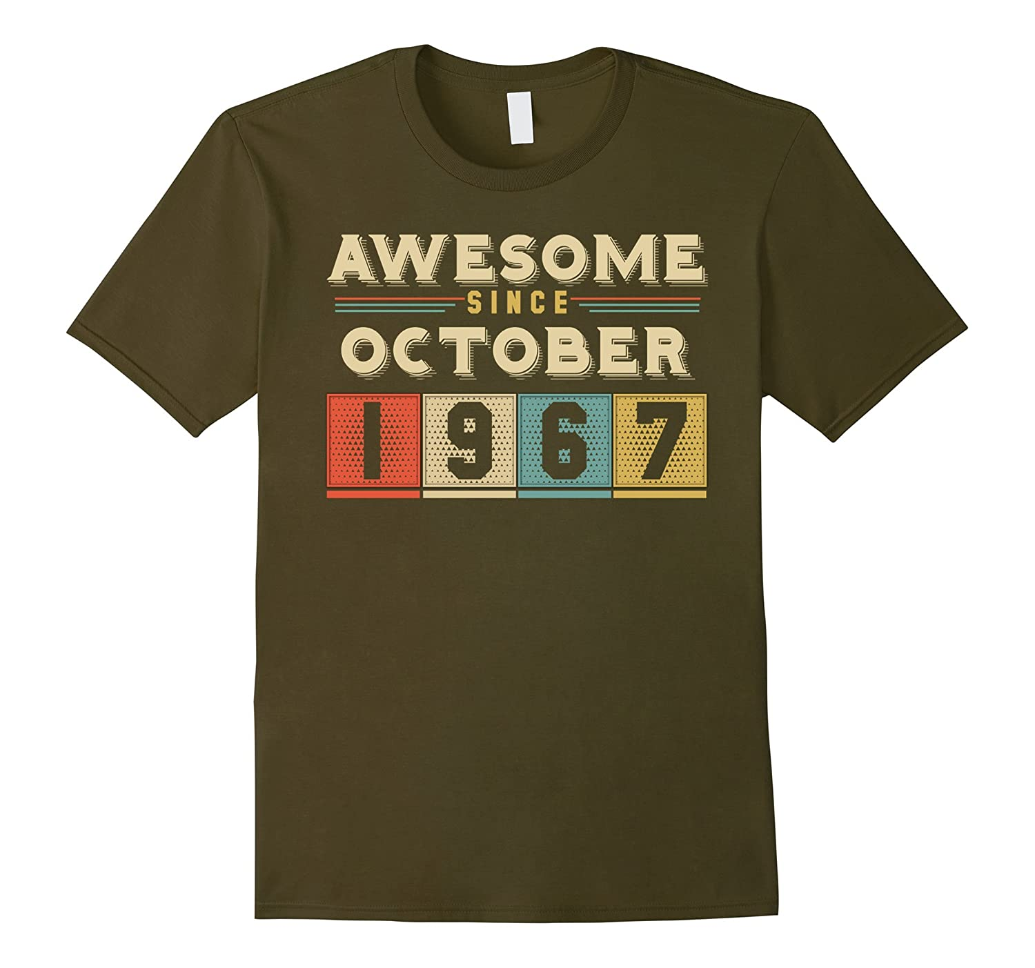 Vintage Born in October 1967 50th Birthday 50 Years Old-FL