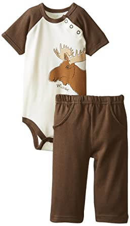 Amazon Com Touched By Nature Organic Cotton Bodysuit And Pant Set
