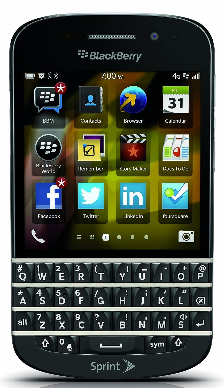 amazon com blackberry q10 black 16gb sprint cell phones