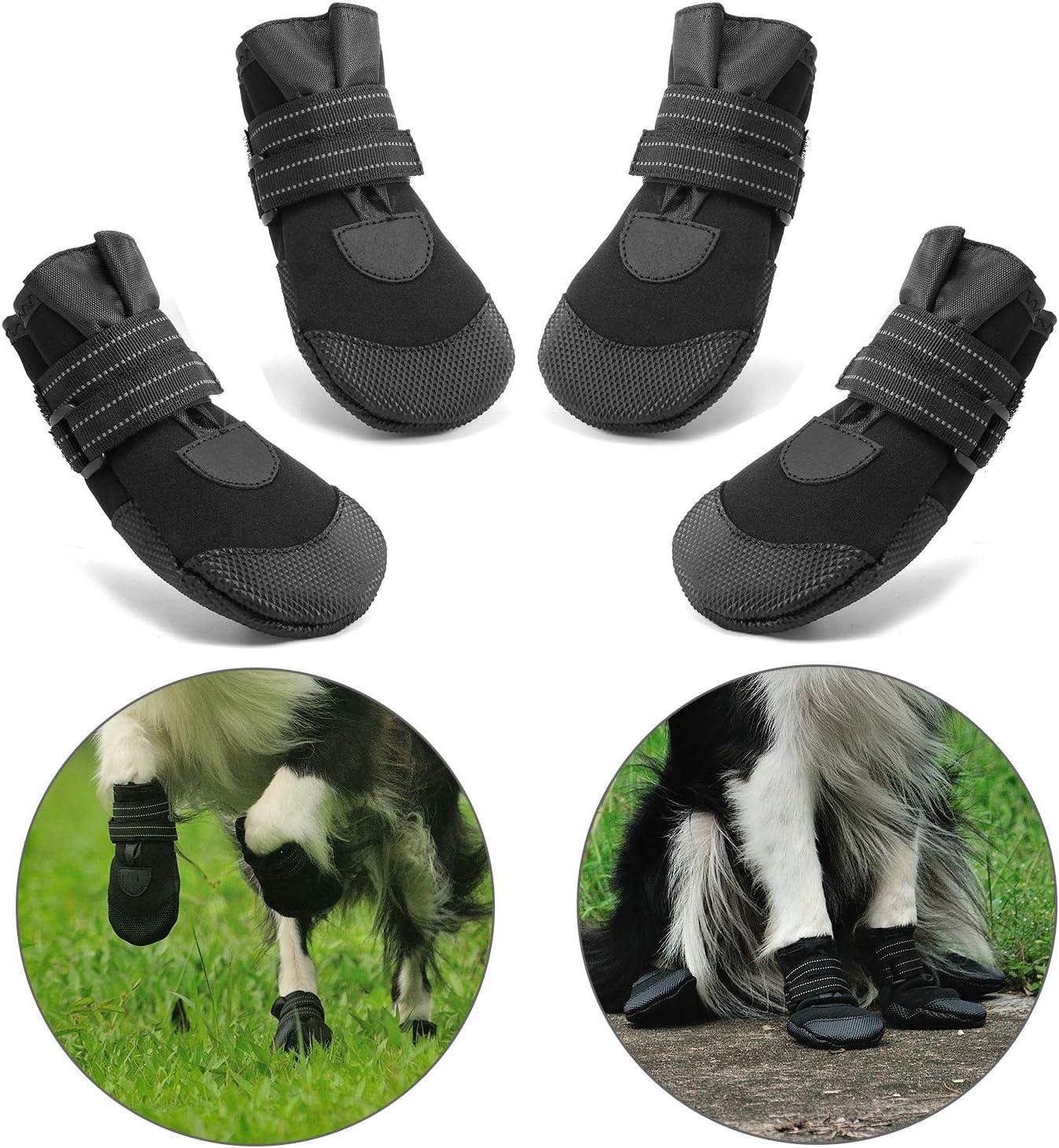 Impermeable Zapatos Perro para Mediano y Grandes Perros Negro RoyalCare Zapatos Perro 5#