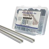 2 st. 1m C profiel M8 aluminium T groef aluminium profiel rail accessoires schroeven set
