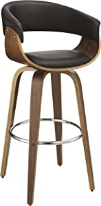 Coaster Home Furnishings Bar Stool Home Furnishings, Black/Walnut/Chrome