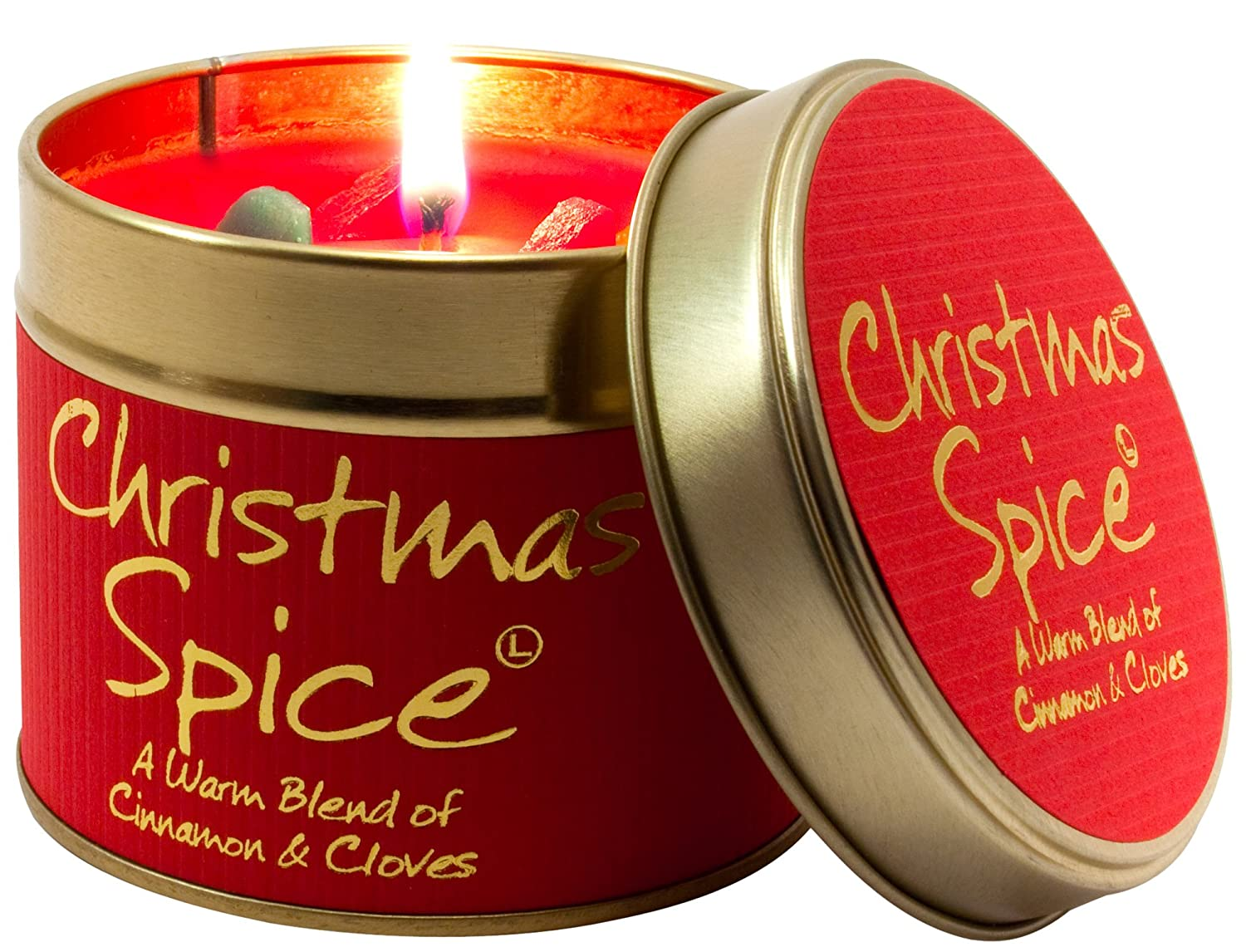 Lily Flame. Lata Christmas Spice, color rojo. Lily-Flame 1SPI