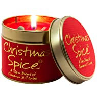 Lily Flame Christmas Spice Tin, Red