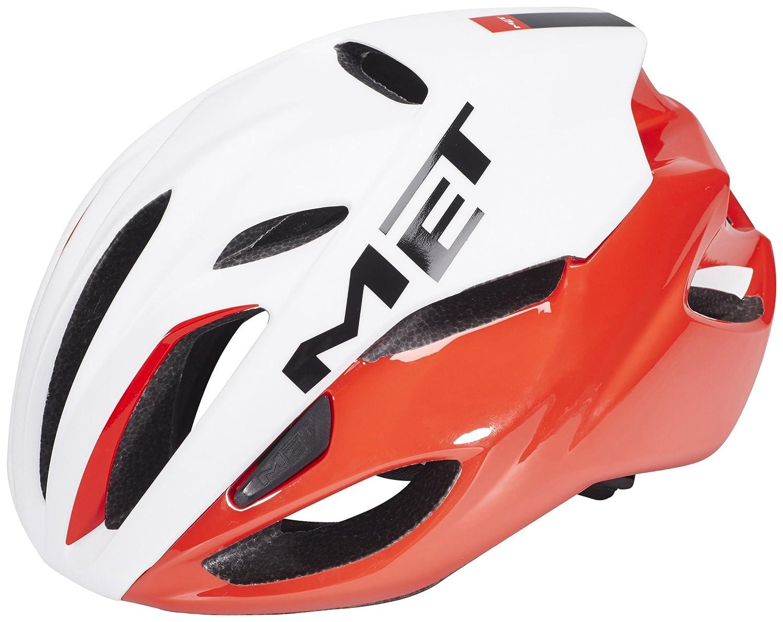 メット リヴァーレHES レッドホワイト ヘルメット L(59/62cm)   B015DJG1FK