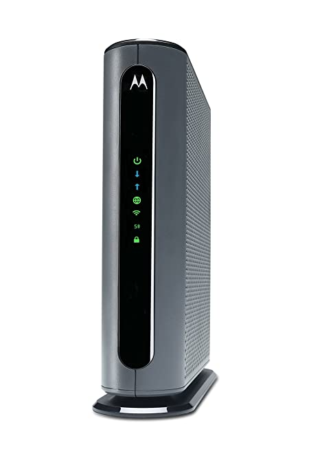 MOTOROLA MG7700 24X8 Cable Modem Plus AC1900 Dual Band WiFi Gigabit Router  with Power Boost, 1000 Mbps Maximum DOCSIS 3 0 - Approved by Comcast
