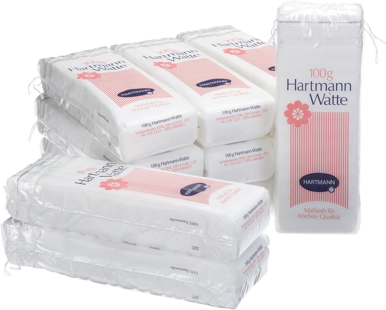Hartmann 110123 Cotton Wool Pleat 12 Packs of 100 g
