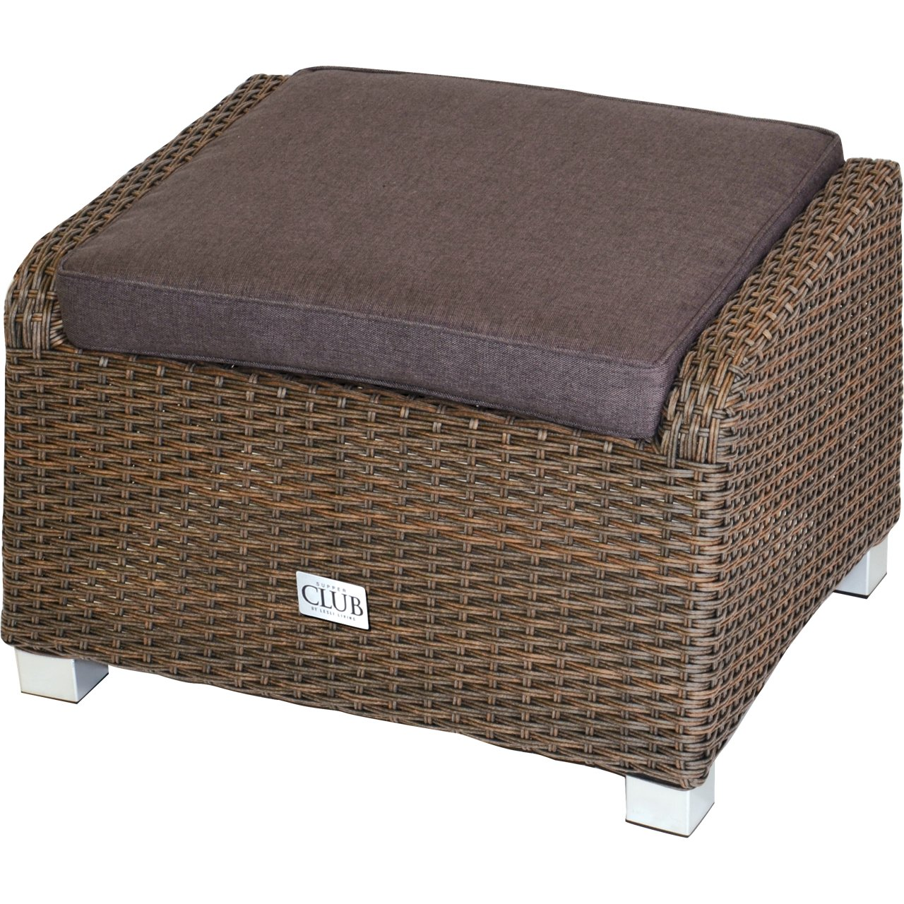 Foot Stool Woven Lounge Soho, Doppelrund Brown 71X56X45 CM Lesli Living