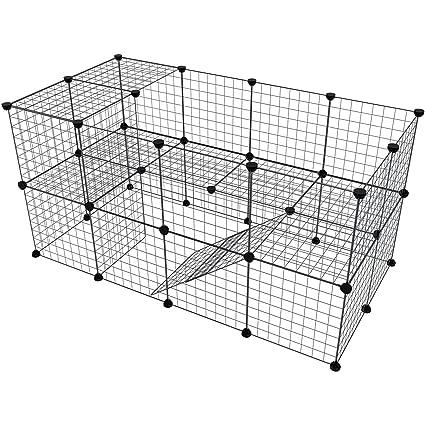 Amazon.com : Tespo Pet Playpen, Small Animal Cage Indoor Portable ...