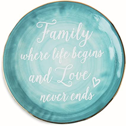 Pavilion Gift Company Emmaline u0026quot;Family Where Life Begins and Love Never Endsu0026quot; Ceramic  sc 1 st  Amazon.com & Amazon.com | Pavilion Gift Company Emmaline