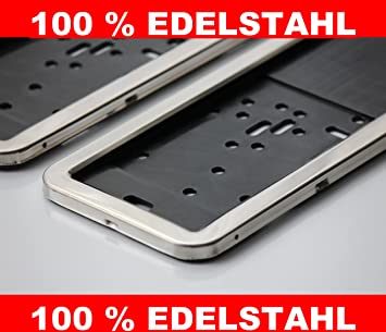 2x Stainless Steel Number Plate Surround Holder Stainless Steel New in Original Packaging & 2x Stainless Steel Number Plate Surround Holder Stainless Steel New ...