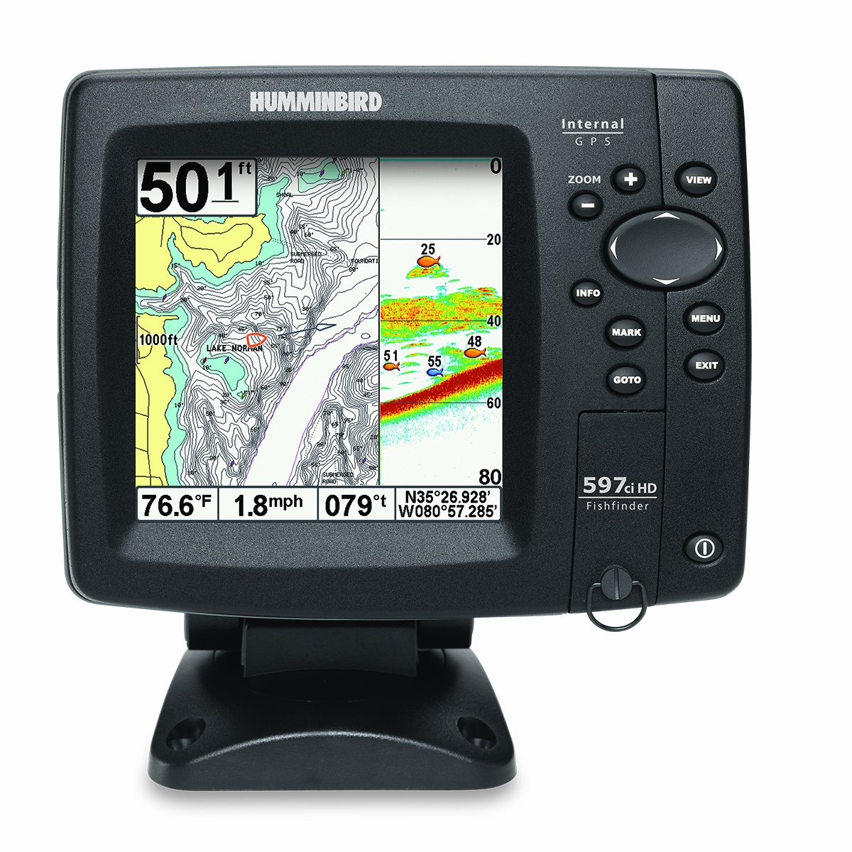 Amazon.com: Humminbird 407920-1 Fishfinder 597ci HD GPS Combo (Discontinued  by Manufacturer): Cell Phones & Accessories