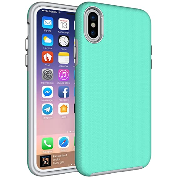 cheaper 49af3 6c63d Amazon.com: iPhone X Case, iPhone X Hybrid Case, iPhone X Shockproof ...