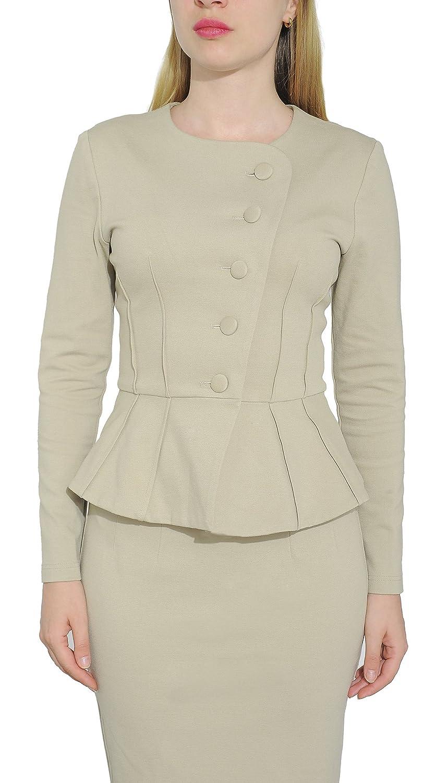 JYDress Womens Formal 4 Button V-Neck Business Dress Suit Vest Waistcoat