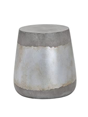 Sunpan Modern Aries Side Table – Concrete – Silver – 101376