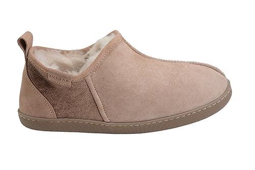 Mujer piel de carnero cuero blanda forro de lana caliente zapatillas de estar por casa zapatos 3dwYY1RuB