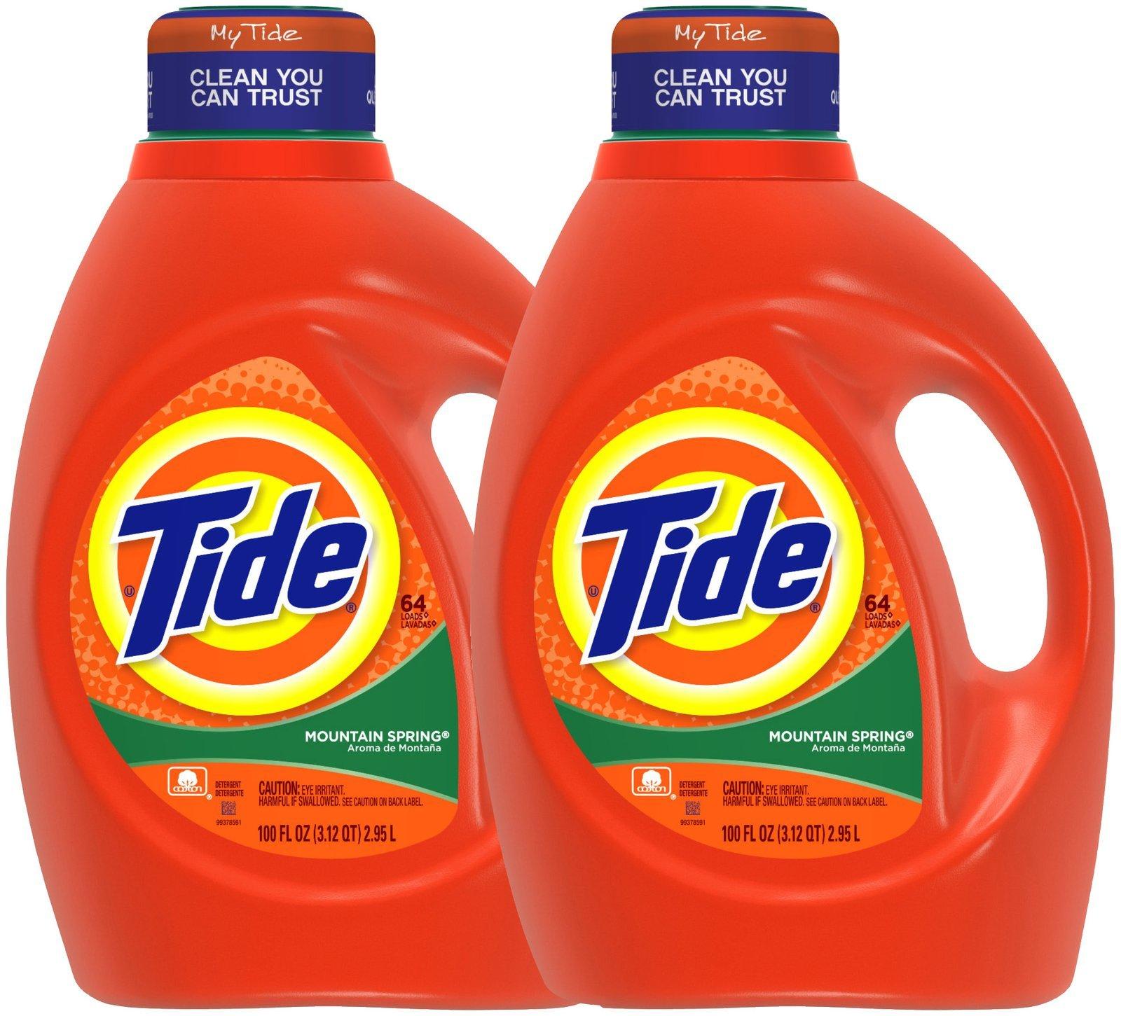 Tide Liquid Detergent - 100 oz - Mountain Spring - 2 pk