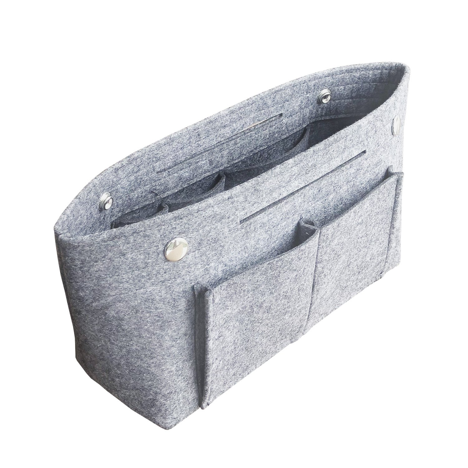 APSOONSELL Felt Tote Handbag Organizer Insert for Women, Light Grey - Large by APSOONSELL (Image #2)