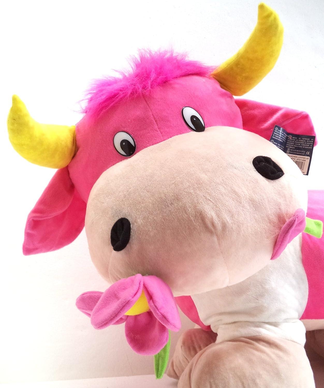 Vaca Grande de Peluche. Medidas: 90x55x40 cms. aprox..Hecho a mano.: Amazon.es: Juguetes y juegos