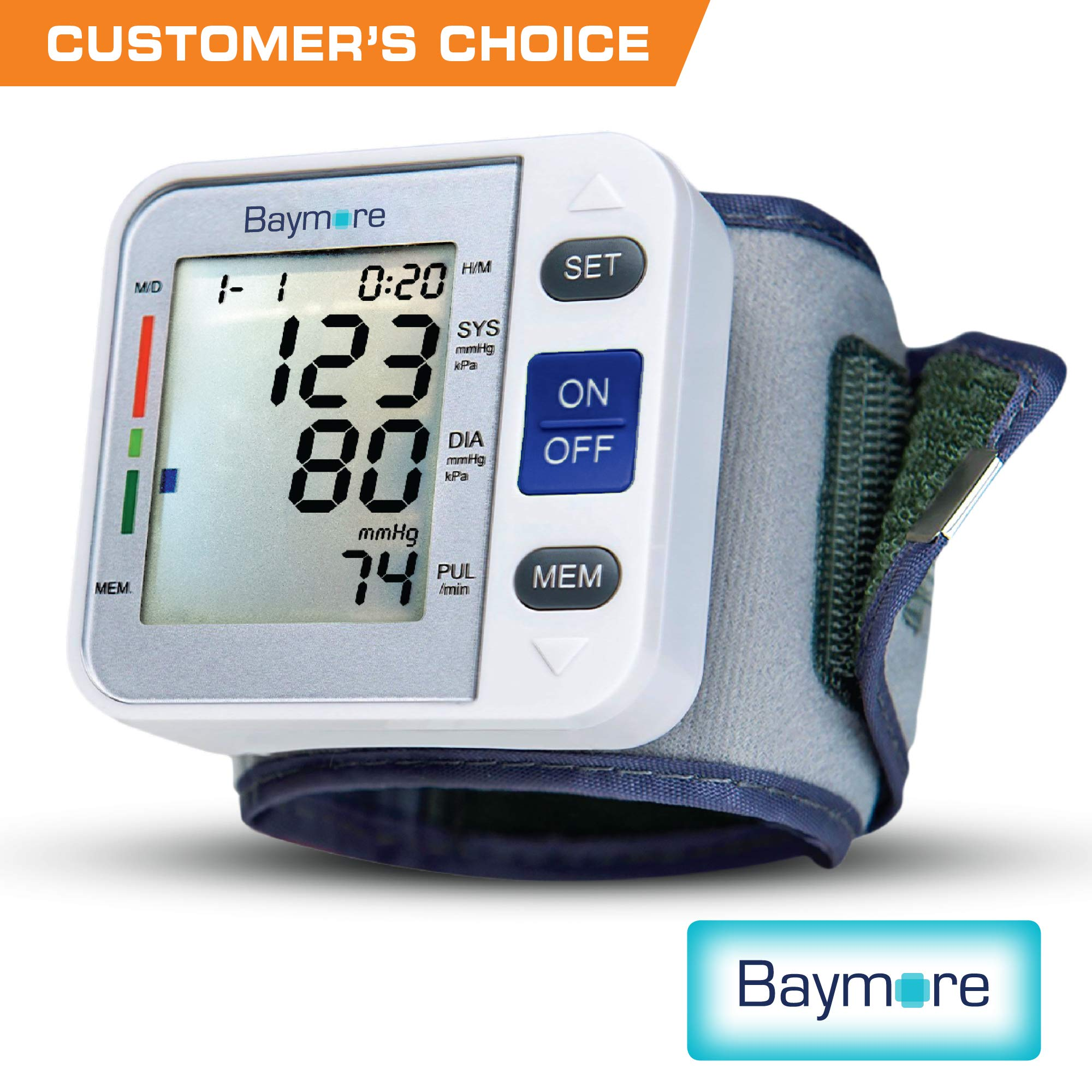 Baymore Digital Wrist Blood Pressure Monitor Cuff