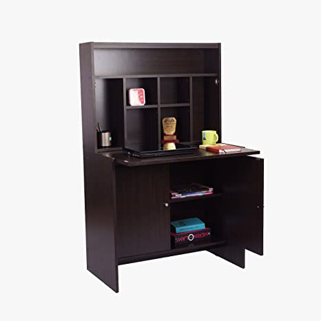 Eros Wooden Study Table Cum Office Desk with Foldable Flap