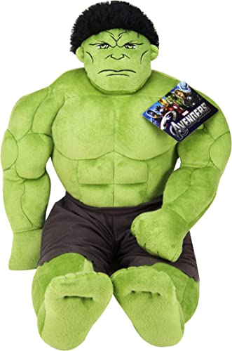 Jay Franco Avengers Plush Stuffed Hulk Pillow Buddy – Super Soft Polyester Microfiber, 23 inch Official Marvel Product