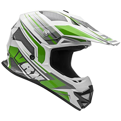 Vega Helmets VRX Advanced Off Road Motocross Dirt Bike Helmet (Green Venom Graphic, X-Small): Automotive