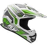 Vega Helmets VRX Advanced Dirt Bike Helmet – Off-Road Full Face Helmet for Motocross ATV MX Enduro Quad Sport, 5 Year Warranty (Green Venom Graphic, Medium)