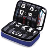 "BAGSMART Large Travel Electronic Accessories Thicken Cable Organizer Bag Portable Case for Hard Drives, Cables, Charge, Kindle, 9.7"" iPad"