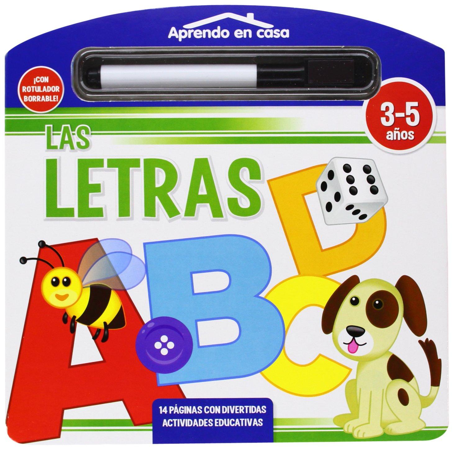 LAS LETRAS LIBRO PIZARRA (APRENDO EN CASA): Amazon.es: Vv.Aa ...
