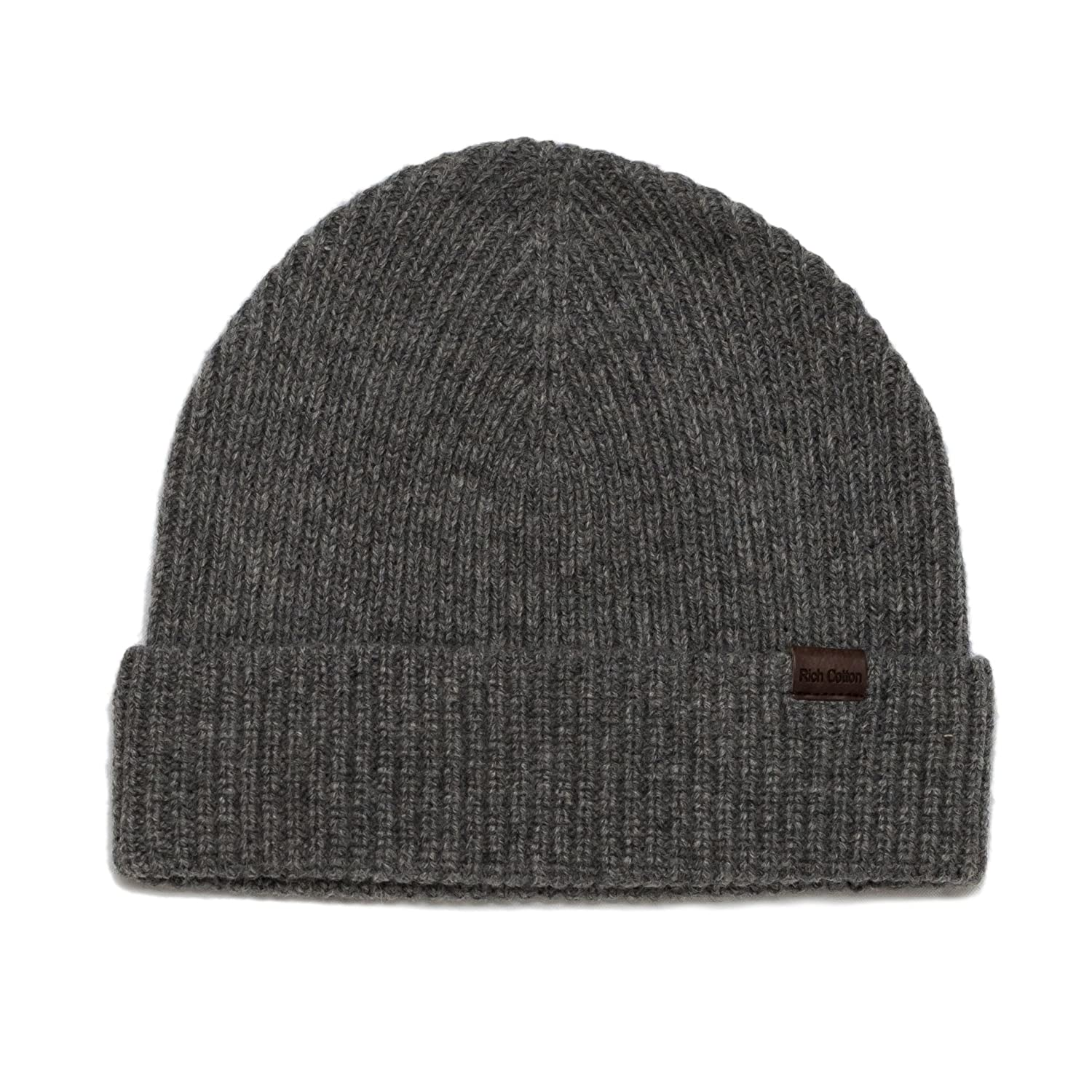 Rich Cotton Wool Beanie Hat 100/% Merino Wool Men Women 7 Colors Hat