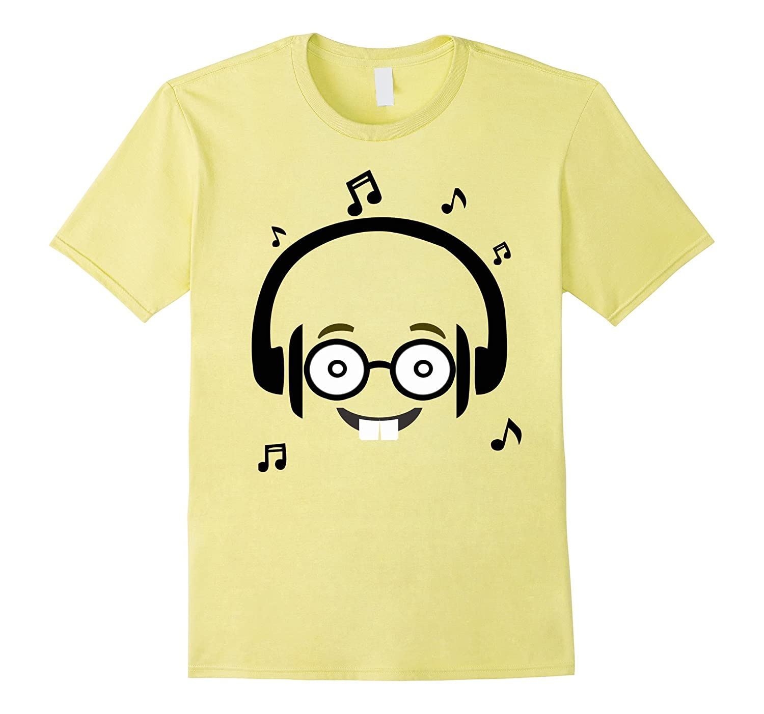 Nerd Glasses Funny Face Emoji Listening Music with Headphone-ANZ